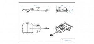 JP1400-LB/2 JET med skinner [Bildene er illustrerende, og tilhengere kan inneholde ekstra utstyr]
