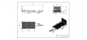 TP250-RB/1500kg [Bildene er illustrerende, og tilhengere kan inneholde ekstra utstyr]